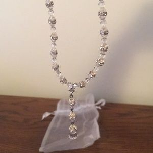 Swarovski crystal tear drop necklace